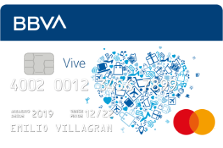 Tarjeta de crédito Vive BBVA