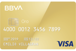 Tarjeta de crédito BBVA Oro