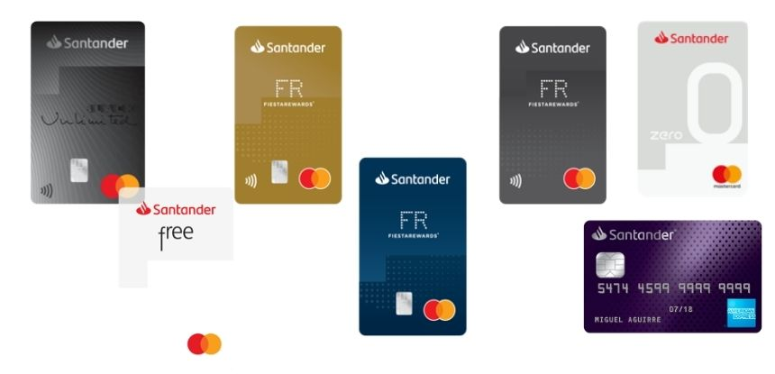 Tarjetas de crédito Santander
